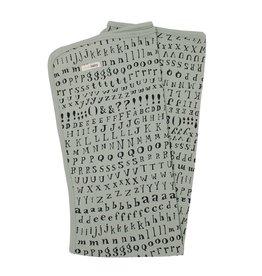 Loved Baby Organic Swaddling Blanket - Seafoam Letters