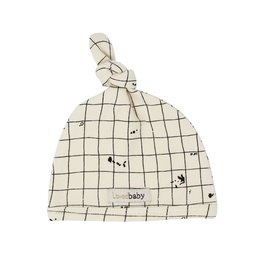 Loved Baby Organic Top Knot Hat - Beige Coordinates 0-3M
