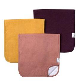 Copper Pearl Burp Cloths (3 pack) - Jade