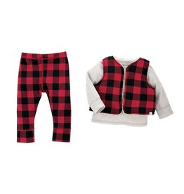 Mud Pie Buffalo Check Three-Piece Set