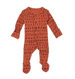 Loved Baby Organic Footed Overall - Maple Letters