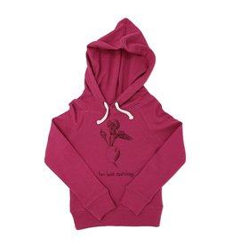 Loved Baby Organic Kids Graphic Hooded Sweatshirt - Magenta Radish