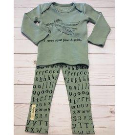 Loved Baby Organic Seafoam Peas Letters Set