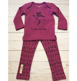 Loved Baby Organic Magenta Radish Letters Set