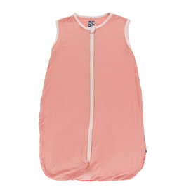 Kickee Pants Solid Lightweight Sleeping Bag Blush with Macaroon 0-6m