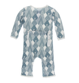 Kickee Pants Print Coverall with Zipper Dusty Sky Mountains