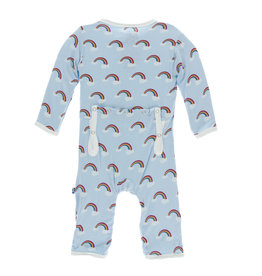 Kickee Pants Print Coverall with Snaps Pond Rainbow