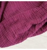 Sugar House Classic Muslin Swaddle - Red Plum