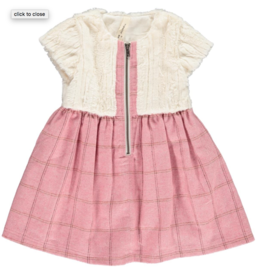 Vignette Faye Fur Top Dress Rose