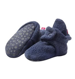 Zutano Cozie Fleece Gripper Bootie - Denim Navy