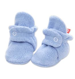 Zutano Cozie Fleece Bootie - Light Blue 3M