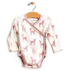 City Mouse Deer Kimono Bodysuit - Natural