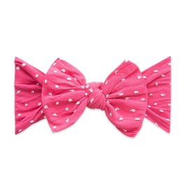 Baby Bling Bows Patterned Shabby Knot - Hot Pink Dot