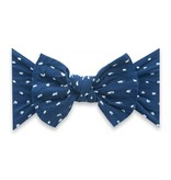 Baby Bling Bows Patterned Shabby Knot - Navy Dot