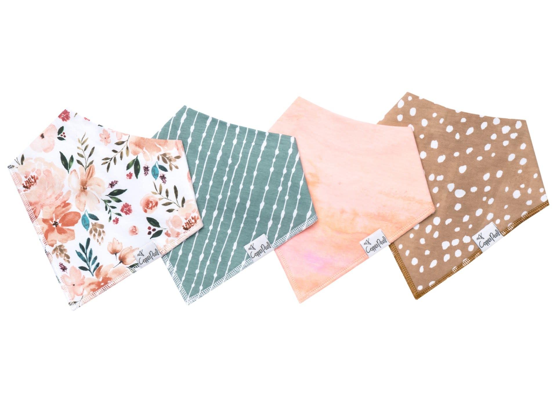 Copper Pearl Bibs - Autumn Set - 4 pack