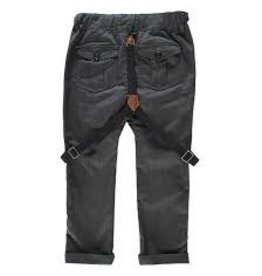 Me + Henry Grey Black Dogtooth Pants with Suspenders, Boy