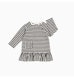 Miles Baby Black & White Long Sleeve Knit Dress -