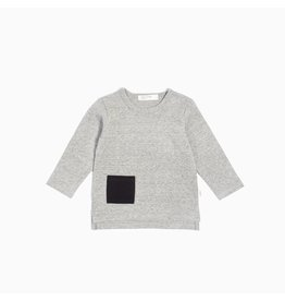 Miles Baby Unisex L/S T-Shirt Knit - Dk Heather