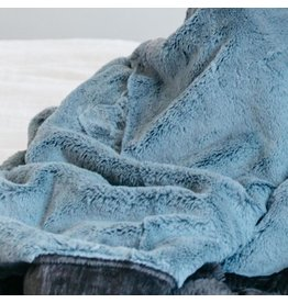 "Saranoni Mini Blanket (15"" x 20"") Slate Blue Charcoal Lush"