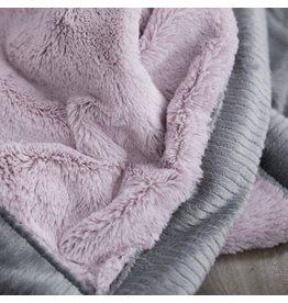 "Saranoni Receiving Blanket (30"" x 40"") Lilac Haze Gray Lush"