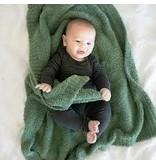 "Saranoni Receiving Blanket (30"" x 40"") Olive Bamboni"