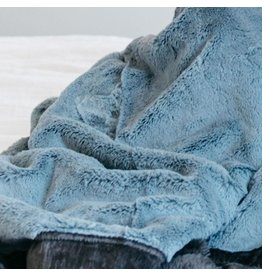 "Saranoni Receiving Blanket (30"" x 40"") Slate Blue Charcoal Lush"