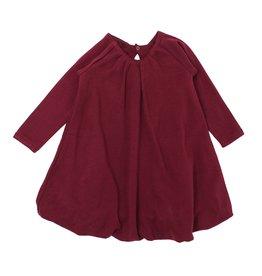 Loved Baby Organic Kids Bubble Dress - Cranberry