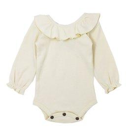 Loved Baby Organic Ruffle Bodysuit - Beige