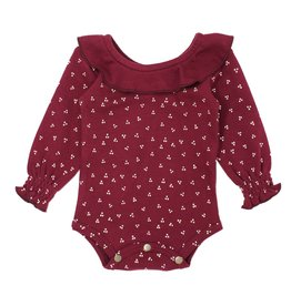 Loved Baby Organic Ruffle Bodysuit - Cranberry Dots