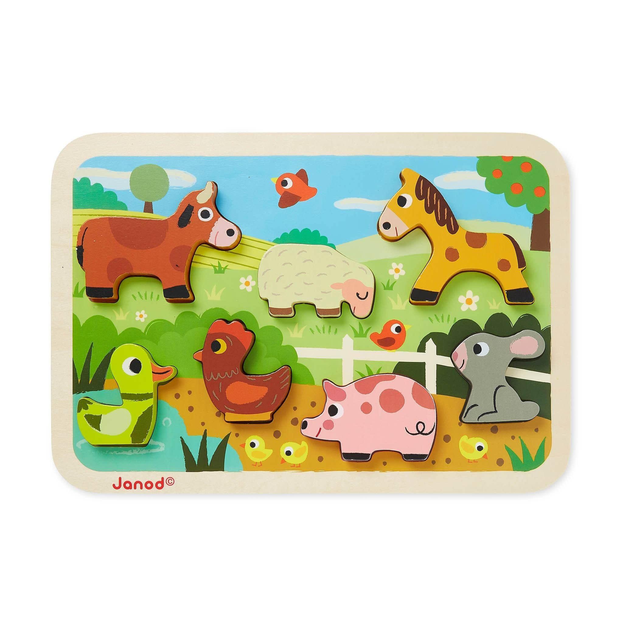 Janod Chunky Puzzle - Farm