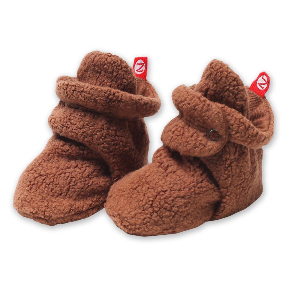 Zutano Cozie Fleece Bootie - Chocolate 6M