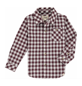 Me + Henry Wine Plaid Shirt - Mens