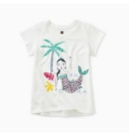 Tea Collection Island Mermaid Graphic Tee 3T