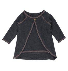 Loved Baby Organic Tunic Cardigan - Dark Heather/Mauve