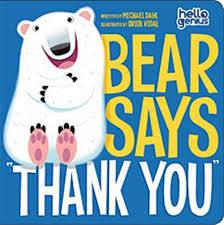 "Capstone Bear Says ""Thank You"""