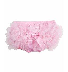 RuffleButts Pink Frilly Skirted Knit RuffleButt 0-3M