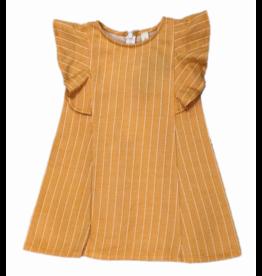 Vignette Paula Ruffle Sleeve Dress Honeycomb