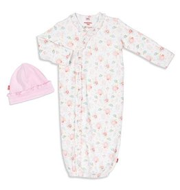 Magnetic Me Nottingham Floral Organic Cotton Magnetic Gown Set NB-3M