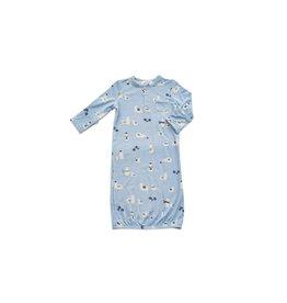 Angel Dear Gown, Blue Llama 0-3m