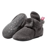 Zutano Cozie Fleece Gripper Bootie - Dark Gray