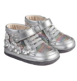 Robeez Mini Shoes, Zoey Silver