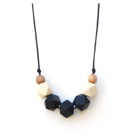 Lou Lou Lollipop Lollia Wood & Silicone Teething Necklace - Black