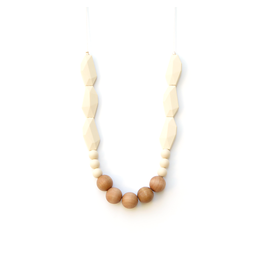 Lou Lou Lollipop Joan Wood & Silicone Teething Necklace - Beige