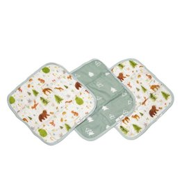 Lou Lou Lollipop Washcloth 3-pieces Set - Forest Friends