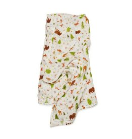 Lou Lou Lollipop Bamboo Swaddle - Forest Friends