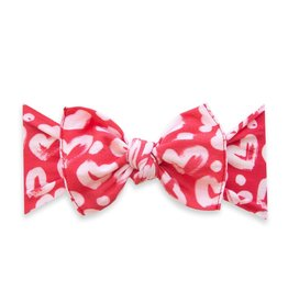Baby Bling Bows Printed Knot - Lipstick Heart