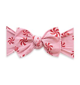 Baby Bling Bows Printed Knot - Pink Peppermint