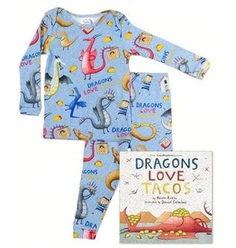 Books to Bed Dragons Love Tacos Pajama and Book Set