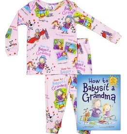 Books to Bed How to Babysit a Grandma Pajama and Book Set