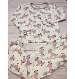 Bestaroo Two Piece Modal Unicorn Pajama Set (Girls 2T-6Y)